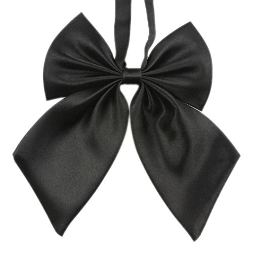 Ariestone Unique Womens Girls Novelty Big Bow Tie necktie (Black) (Peplum Bow)