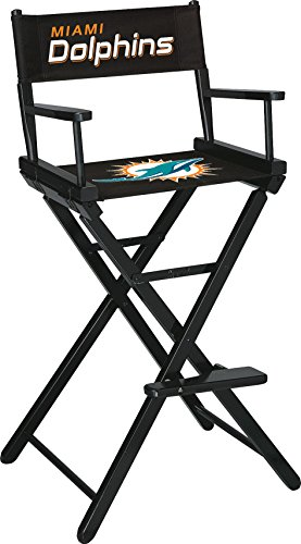 Imperial Officially Licensed NFL Merchandise: Directors Chair (Tall, Bar Height), Miami Dolphins