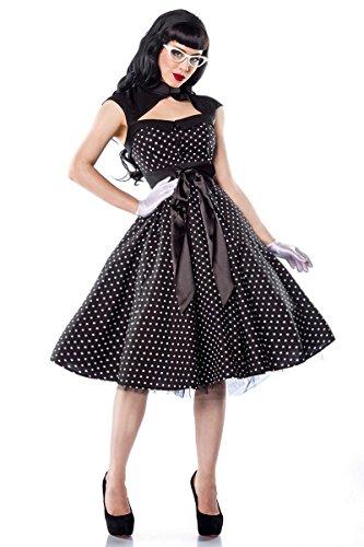 Chic Star - Rockabilly-Kleid - schwarz/weiß - L