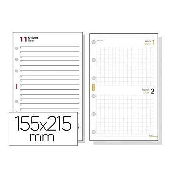 Recambio agenda finocam 1000 anualidad dia pagina 155x215 mm ...