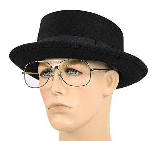 Largemouth Men's Pork Pie Hat Black (Medium 22.5 inches/57 - Pie Breaking Pork Hat Bad