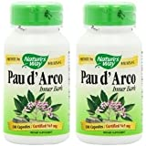 【2個セット】 [海外直送品] Nature's Way パウダルコ(紫イペ) 545mg 100粒 Pau d' Arco Inner bark