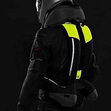 Gilet Airbag per moto protezione per schiena collo e coccige petto colore: nero con bombola di CO2