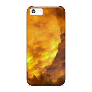 High Quality Shock Absorbing Case For Iphone 5c-fire Touches The Sky