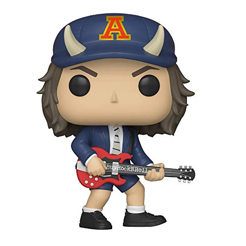 AC/DC 2019 Funko Pop! Rocks Angus Young Chase Figure #91 in Stacks Display Case