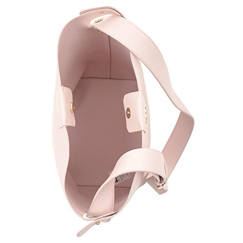 Button Womens Ladies Bag PU JAM Leather Magnetic Shoulder Pink Handbag Fashion Tote Large Faux Lily Shopper Size Closure ZWnfwOgfdx