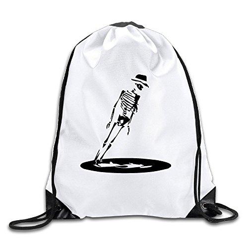 FOODE Anti Gravity Skeleton Drawstring Backpack Sack -