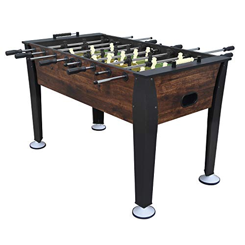 Action Foosball Soccer Table (EastPoint Sports Preston Foosball Table Game - Features Steel Player Rods, Bead Style Scoring - Complete with 2 Foosballs)
