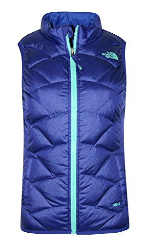 The North Face Youth Girls Luna Reversible Down Full Zip Vest (L 14-16, Lapis Blue) by The North Face