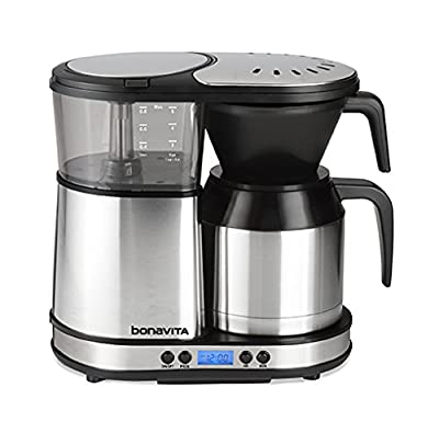 Bonavita BV1500TD 5-Cup Digital Carafe Coffee Brewer, Stainless Steel from Bonavita
