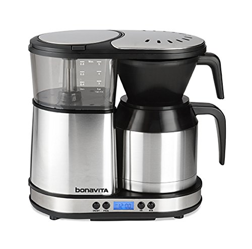 Bonavita BV1500TD 5-Cup Digital Carafe Coffee Brewer, Stainless Steel by Bonavita