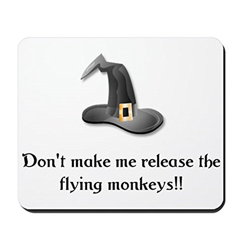 CafePress - Flying Monkeys Mousepad - Non-slip Rubber Mousepad, Gaming Mouse (Pagan Beliefs On Halloween)