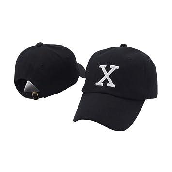 Yooci Gorras De Hombre X Cap Gorra De Béisbol Negra Sombrero De ...