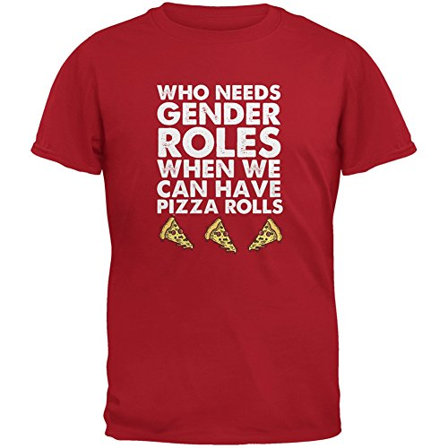 who-needs-gender-roles-pizza-rolls-red-adult-t-shirt