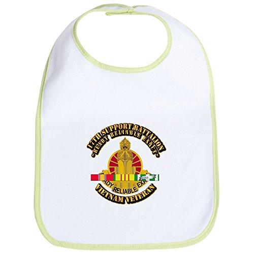 CafePress - Army - 17Th Support Battalion W SVC Ribbon Bib - Cute Cloth Baby Bib, Toddler Bib (Ribbons Svc)