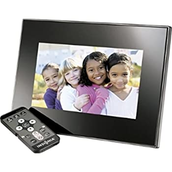 Amazon Com Insignia 7 Quot Widescreen Lcd Digital Photo Frame Black Digital Picture Frames