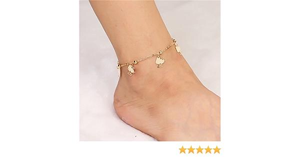 Cat ankle braclet Beach anklet Cat Anklet Cat Ankle Chain Large Anklet Kitty anklet Plus Size anklet Gold Plated Anklet