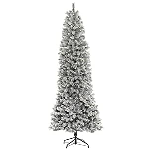 "Vickerman 493656 - 10' x 44"" Flocked Vail Spruce 800 Warm White LED Lights Christmas Tree (B177086LED)"
