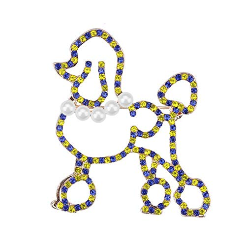 (HUNANANA Pearl Poodle Brooches for Women Ladies Teen Decoration Accessories Brooch Novelty Scarf Jewelry Brooches Wedding)