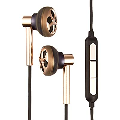 1MORE Dual Driver In-Ear Headphone Hi-Res Audio Wired Earphone with Microphone and Remote Control For Apple Iphone Ipod Ipad  Android Smartphone  Tablet  MP3  E1008 Gold