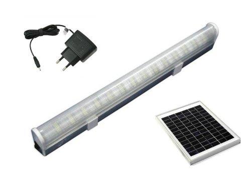 Mazda Energy Solar LED Tube 5W Rechargeable Light (White, 1 Foot)