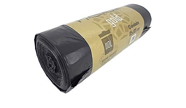 PAMEX - Bolsa de Basura Premium Gold 85x105 Rollo 10 Bolsas ...