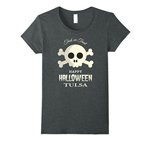 Womens Tulsa Trick or Treat Happy Halloween Party T Shirt XL Dark (Party City Tulsa Halloween Costumes)