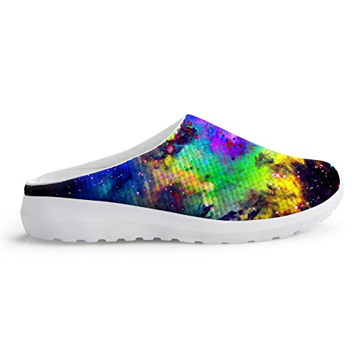 Bigcardesigns Galaxy Women Sandal Breathable 3d Universo Galaxy Printing Summer 38