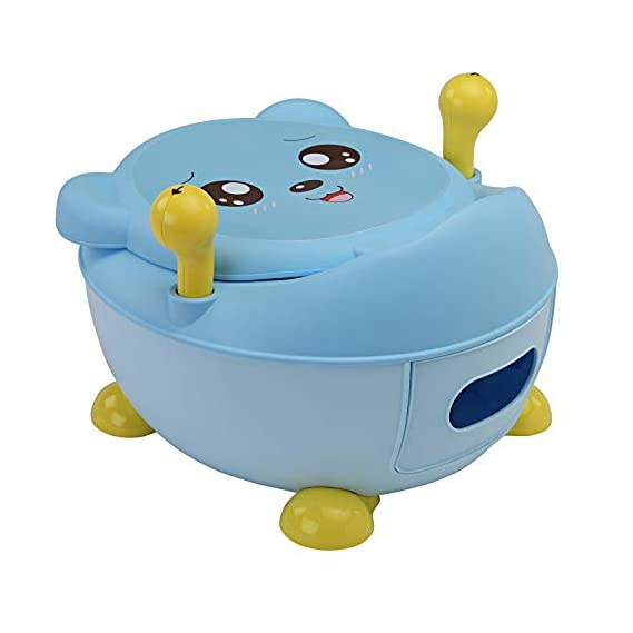 LuvLap Tedclub Baby Potty Training Seat, with handles (Blue)
