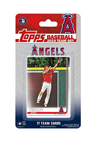 (Los Angeles Angels 2019 Topps Factory Sealed Special Edition 17 Card Team Set with Mike Trout and Shohei Otani Rookie Plus 15 Others)