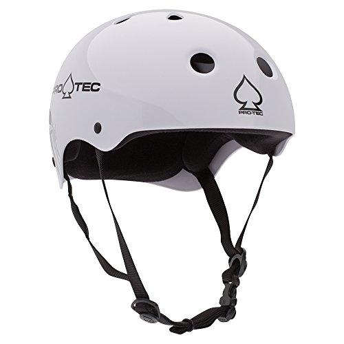 Pro-Tec Classic Skate Helmet, Gloss White, (Classic Skateboard)