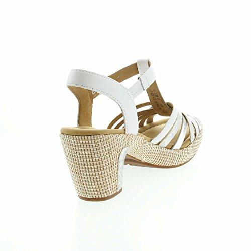 mehrweite Il Gabor ba st silb Cinturino confortevoli comfort sandali scarpe Cinturini sandali sandali Con Weiss Estate 736 Di 22 Donna 4gwZ84