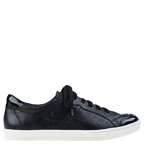 Calf Leather Sneaker (Earth Women's Quince Sneaker,Black Soft Calf Leather,US 10 M)