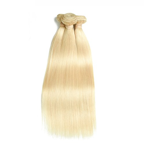 RED QUEEN 613 Brazilian Straight 3 bundles 7A Human Hair Weave Blonde Hair Remy Human Hair Extensions (14 16 18 inch)