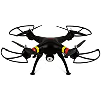 Syma X8W 2.4Ghz 4CH RC Headless FPV (Real Time) Quadcopter with Wifi Camera - BLACK