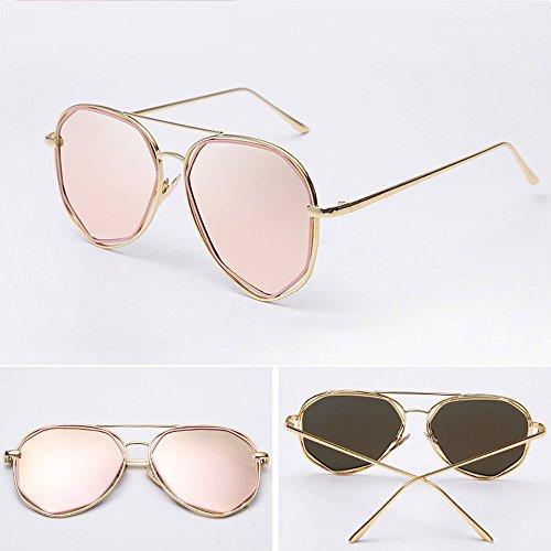 14 Frame para Pink Beat Street polarizados Resina Piece Film Mercury Silver Ojales Gold 14 Hombre LCCNew de Red Cara 2cm Frame Redonda Sunglasses con 2 wTvBpqF