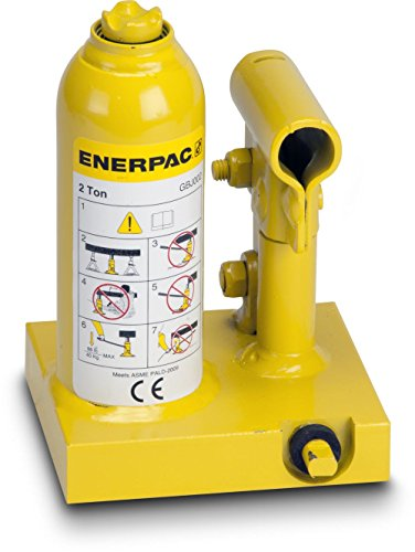 [해외]Enerpac GBJ002 알루미늄 및 스틸 산업용 병 잭, 2 톤 용량, 3.94 스트로크, 옐로우/Enerpac GBJ002 Aluminum and Steel Industrial Bottle Jack, 2-Ton Capacity, 3.94  Stroke, Yellow