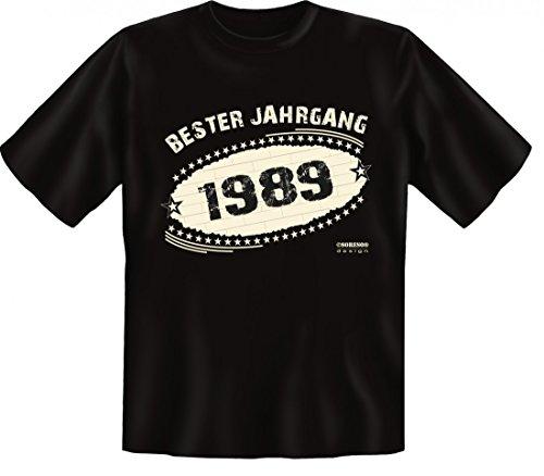 Birthday Shirt - Bester Jahrgang 1989 - Lustiges T-Shirt als Geschenk zum Geburtstag - Schwarz