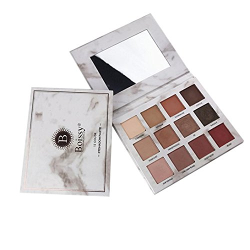 (FTXJ Marble Collection Warm Stone 12 Color Eyeshadow Palette (Multicolo))
