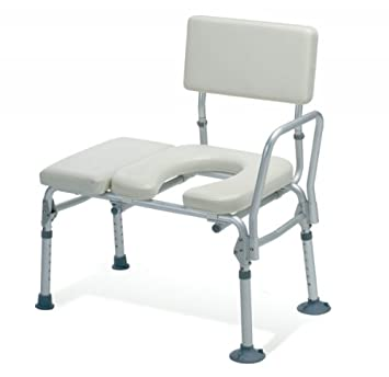 Amazon.com: Guardian Padded Transfer Bench with Commode Opening ...