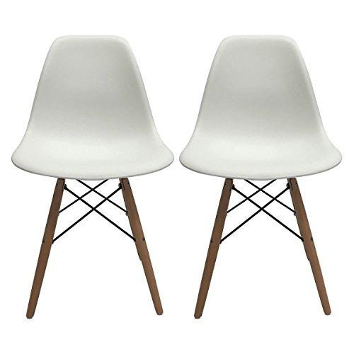 Apontus 41417 Leisure Chairs Eames Style Dining, White