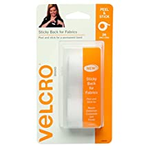 VELCRO Brand-Sticky Back for Fabrics: No Sewing Needed-24-Inch X 3/4-Inch Tape-White