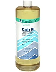 Home Health Castor Oil, Cold Pressed and Cold Processed, 32-Ounce