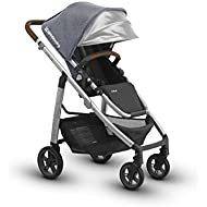 2018 UPPAbaby CRUZ Stroller- Gregory (Blue Melange/Silver/Saddle Leather)
