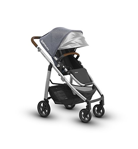 - 2018 UPPAbaby Cruz Stroller- Gregory (Blue Melange/Silver/Saddle Leather)