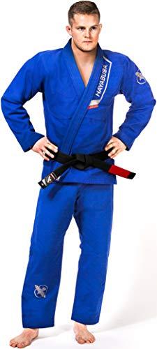 Hayabusa Pearl Weave Ultra-Light Jiu Jitsu Gi, IBJJF Compliant Brazilian Jiu Jitsu Gi (Blue, A3) (Jiu Men Gi Jitsu)