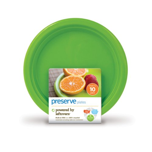 Preserve On the Go Small Plates, Set of 10, Apple Green