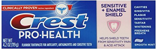 Crest Baking Soda Peroxide Whitening Tartar Toothpaste, 2.9 Oz, Fresh Mint, Pack of 4