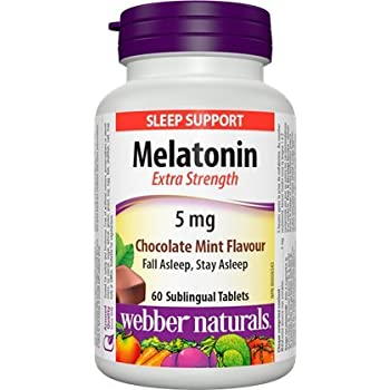 Webber Naturals Melatonin Extra Strength 5 mg · Chocolate Mint Flavour, 60 sublingual tablets