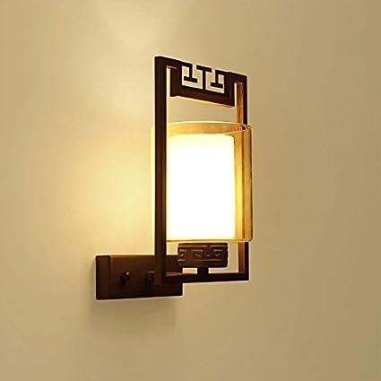 Vinteen Nuevo estilo antiguo de cristal de China LED lámpara de pared Continental pasillo simple Hall ...